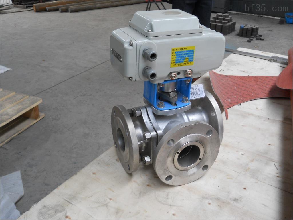角行程电动执行器及内螺纹三通球阀组成,是一种旋转类切断,调节阀门