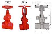 沟槽闸阀Z85X质量稳定诚信厂家