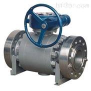 Q347F蜗轮传动锻钢固定球阀,法兰锻钢三片式球阀